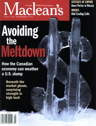Cover for the January 15 2001 issue