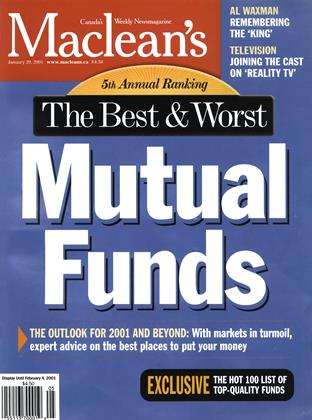 Cover for the January 29 2001 issue