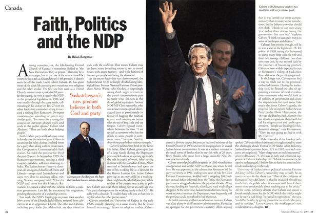 Faith, Politics and the NDP