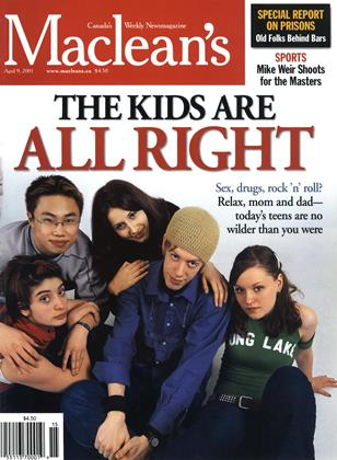 Cover for the April 9 2001 issue