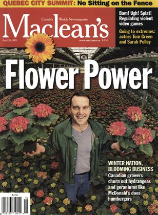 Cover for the April 30 2001 issue