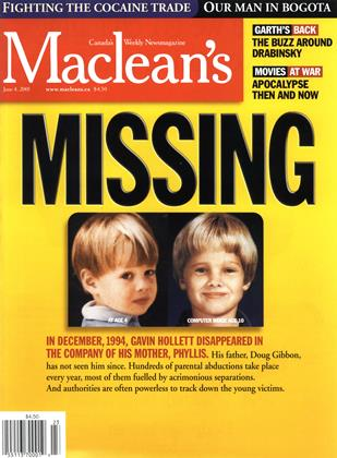 Cover for the June 4 2001 issue