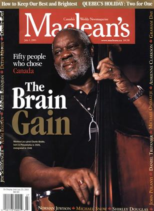 Cover for the July 1 2001 issue