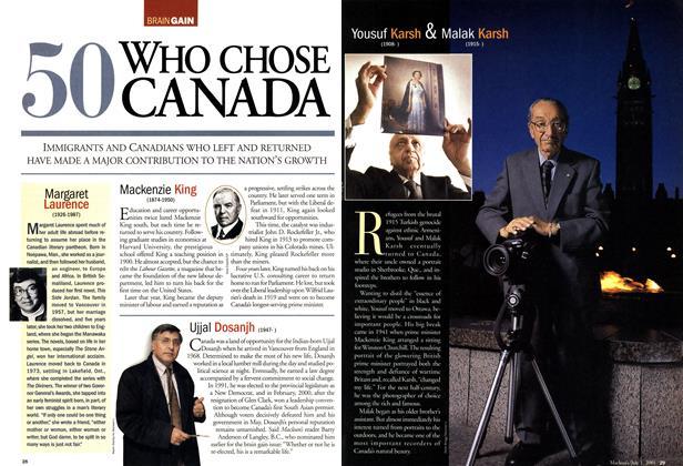 50 WHO CHOSE CANADA