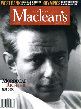 Cover for the July 16 2001 issue