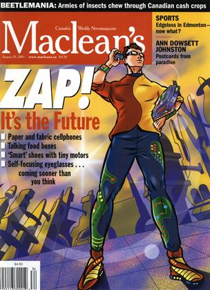 Cover for the August 20 2001 issue