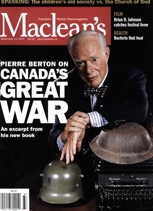 Cover for the September 10 2001 issue
