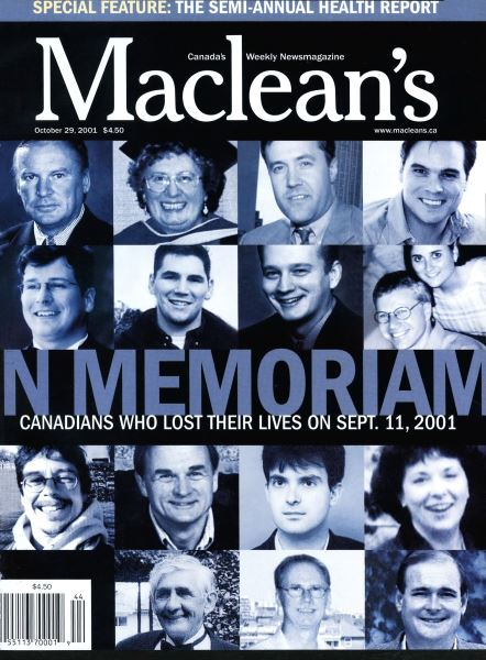 Issue: - October 2001 | Maclean's