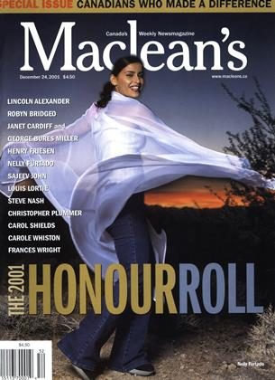 Cover for the December 24 2001 issue
