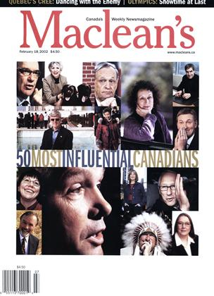 Cover for the February 18 2002 issue