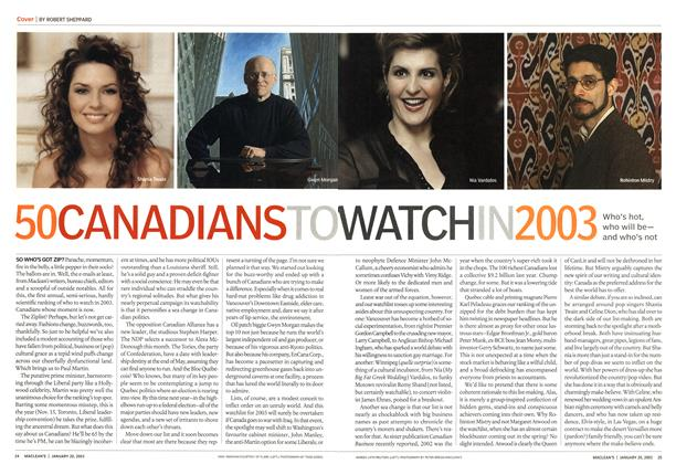 50 CANADIANS TO WATCH IN 2003