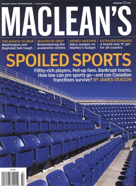 Issue: - February 2003 | Maclean's