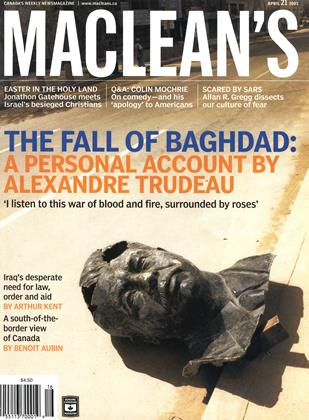 Cover for the April 21 2003 issue