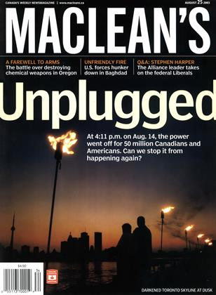Cover for the August 25 2003 issue