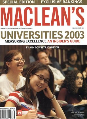 Cover for the November 17 2003 issue