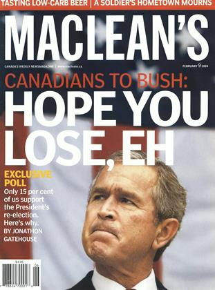 Cover for the February 9 2004 issue
