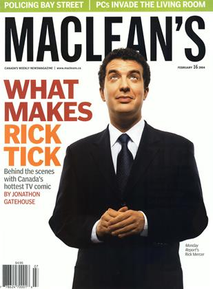 Cover for the February 16 2004 issue