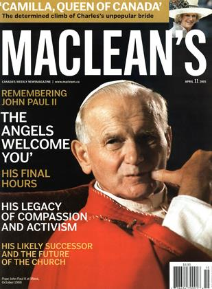 Cover for the April 11 2005 issue