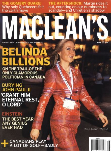 Issue: - April 18th 2005 | Maclean's