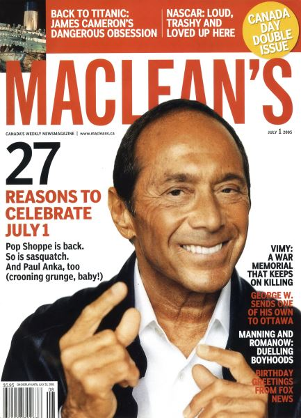 Issue: - July 4th 2005   Maclean's