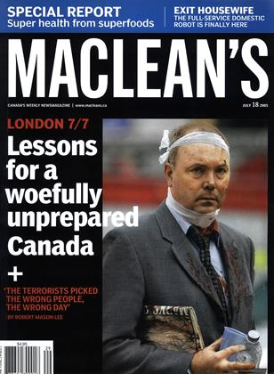 Cover for the July 18 2005 issue