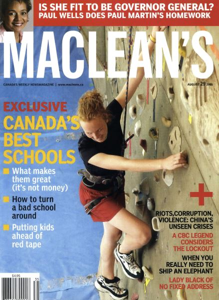 Issue: - August 29th 2005 | Maclean's