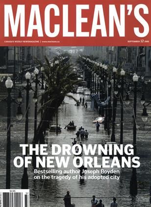 Cover for the September 12 2005 issue
