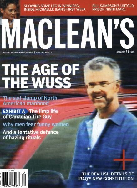 Issue: - October 31st 2005 | Maclean's