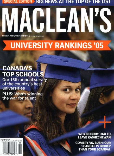 Issue: - November 14th 2005 | Maclean's