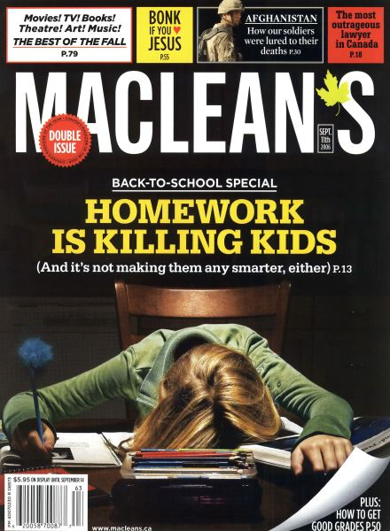 Issue: - SEPT. 11th 2006 | Maclean's