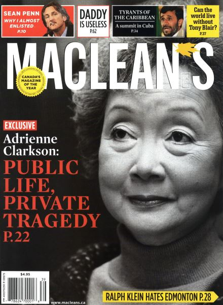 Issue: - SEPT. 25th 2006 | Maclean's