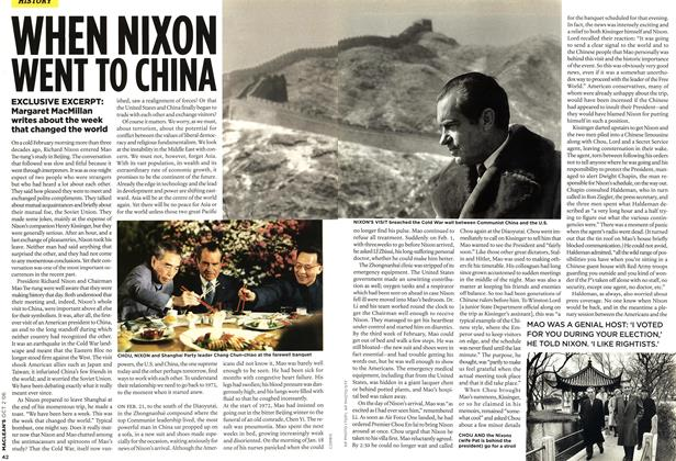 WHEN NIXON WENT TO CHINA