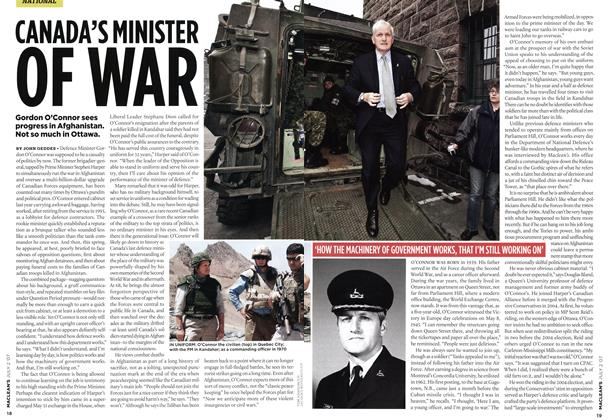 CANADA'S MINISTER OF WAR