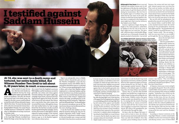 I testified against Saddam Hussein