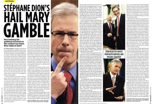 STÉPHANE DION'S HAIL MARY GAMBLE