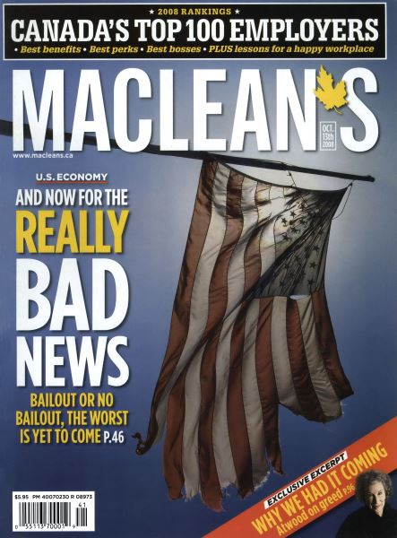 Issue: - OCT. 13th 2008 | Maclean's