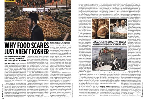 WHY FOOD SCARES JUST AREN'T KOSHER
