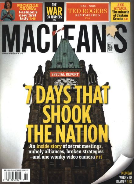 Issue: - DEC. 29th 2008 | Maclean's