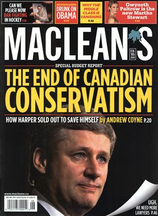 FEB. 9th 2009 | Maclean's