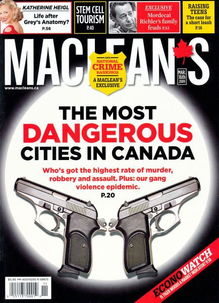 Issue: - MAR. 16th 2009 | Maclean's
