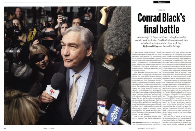 Conrad Black's final battle