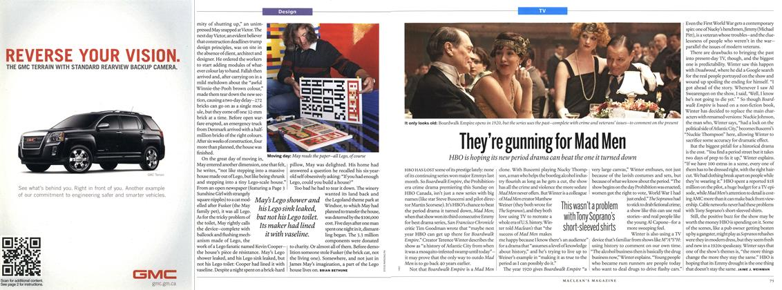 They're gunning for Mad Men, Page: 75 - SEPTEMBER 27, 2010   Maclean's