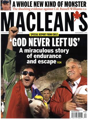 Cover for the November 1 2010 issue