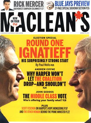 Cover for the April 11 2011 issue
