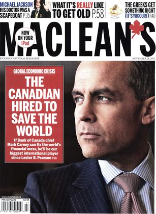 Cover for the November 21 2011 issue