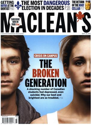 Cover for the September 10 2012 issue
