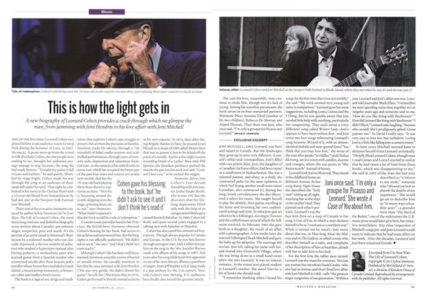 This is how the light gets in, Page: 98 - OCT. 29, 2012 | Maclean's
