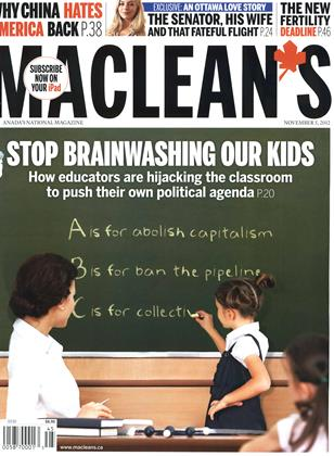 Cover for the November 5 2012 issue