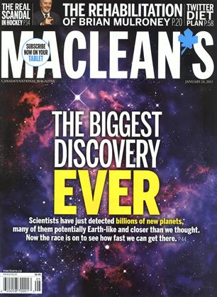Cover for the January 28 2013 issue