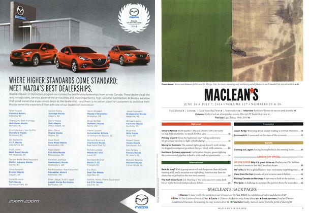 MAZDA, Page: 2 - JULY 7, 2014 | Maclean's